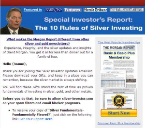 Email marketing prospers when you send a series, a trickle of messages, like this one from Silver-Investor.com